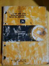 John Deere 300d 310d Backhoe Loader Operator Manual Omt143316 L1