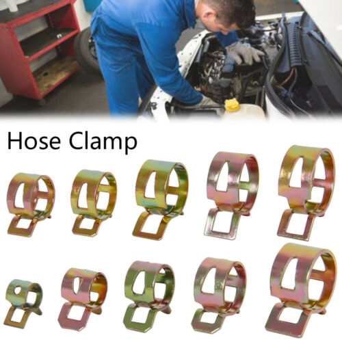 100pc Stainless Steel Jubilee Assorted Hose Clips Clamp Set Driver 6mm-22mm UK