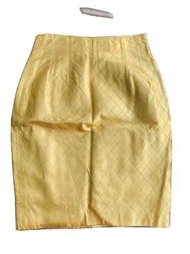 Vintage Maxim Bergdorf Goodman 80s Metallic Gold Q