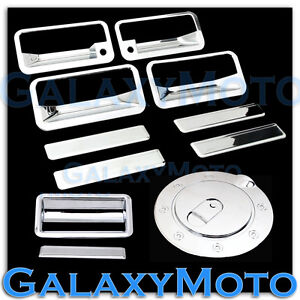 88-98-CHEVY-C-K-1500-2500-3500-Chrome-4-Door-Handle-PSG-KH-Tailgate-GAS-Cover