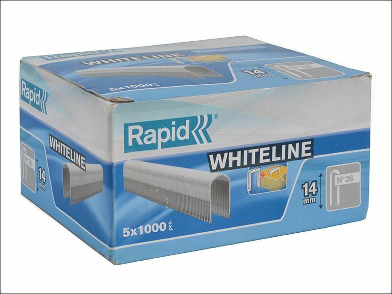 Rapid - 36 14 14mm DP x 5m Weiße Heftklammer Box 5 x 1000