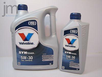 5L [5 Liter] VALVOLINE SYNPOWER Motoröl Öl SAE 5W-30 XL-III C3 Oil [4L + 1L]