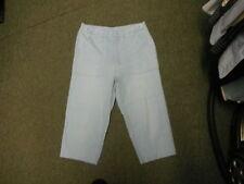 "C & A Jinglers Crop Jeans Waist 28"" Leg 19"" Faded Light Blue Ladies Jeans"