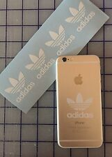 4X Adidas Logo Vinyl Decal Die Cut Cell Phone IPhone Snowboard Skate sticker JDM