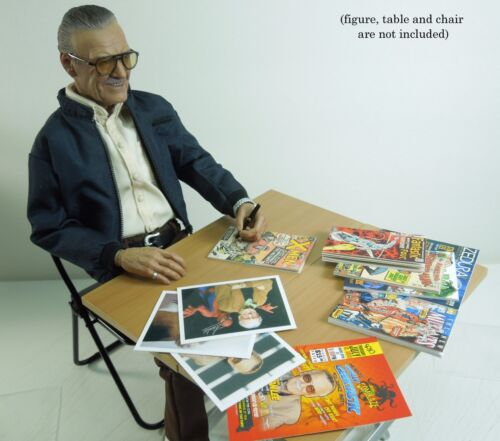 1//6 scale Custom Magazines Comics and Photos Autograph Set for Hot Toys Stan Lee