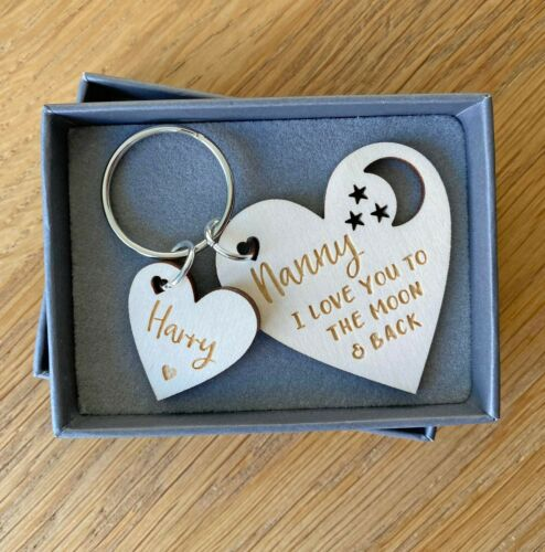Personalised Gifts For Her Mummy Nanny Nana Granny Auntie Godmother Keyring Gift