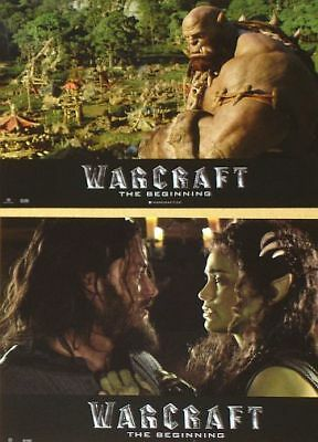 Warcraft Lobby Cards Set Travis Fimmel Paula Patton World