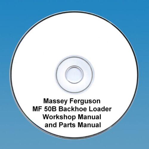 Massey Ferguson MF50B Heckbagger//Lader Traktor Werkstatt /& Teile Handbücher