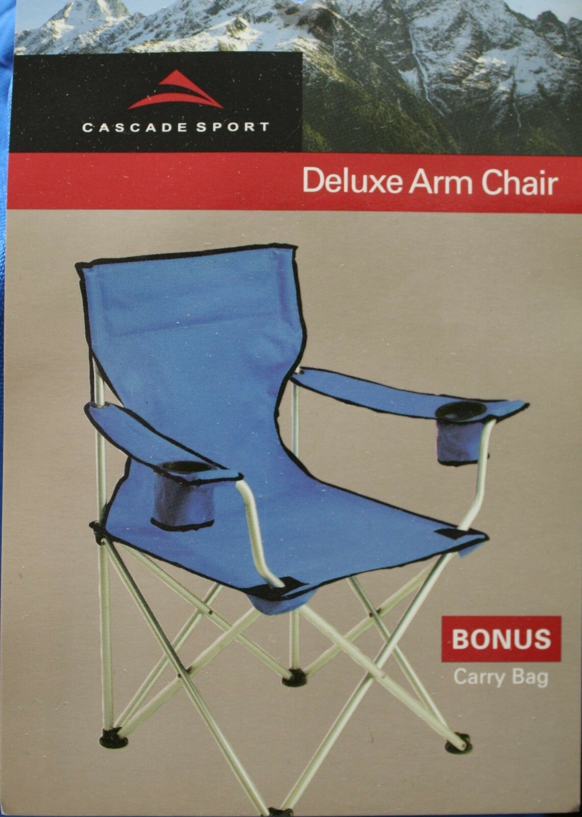 NWT Cascade Deluxe Outdoor  Sports Arm Chair with Carrying Bag  the newest