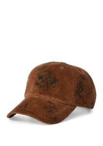 Image is loading Polo-Ralph-Lauren-Corduroy-Baseball-Cap-Brown 7d081f1a37d