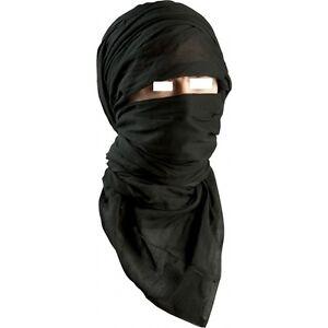 Chèche coton noir état neuf   chech chèch shèch shech foulard ... 90861165742