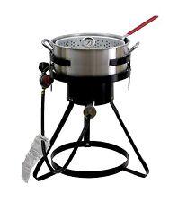 NEW Chard 50,000 BTU 10.5 Qt Propane Outdoor Deep Fryer Aluminum Fish Gas Cooker