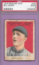 1915 CRACKER JACK CANDY CARD #153 BILL JAMES BOSTON NL E145-2 GRADED PSA 2 GOOD