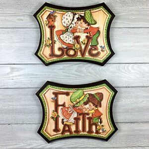 Vintage-Love-and-Faith-Wall-Plaque-MDF-1970s-home-decor