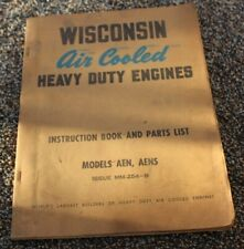 Wisconsin Air Cooled Heavy Duty Engines Instruction Parts Aeh Aehs Manual
