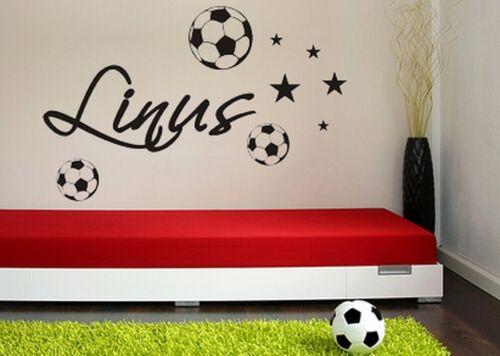 Murales pegatinas NAME Nombre de deseos fútbol pelotas de fútbol 11 estrellas niños puerta wu061