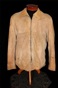VINTAGE-1960-039-S-LIGHT-BROWN-SOFT-DEERSKIN-SUEDE-JACKET-SIZE-40-MEDIUM