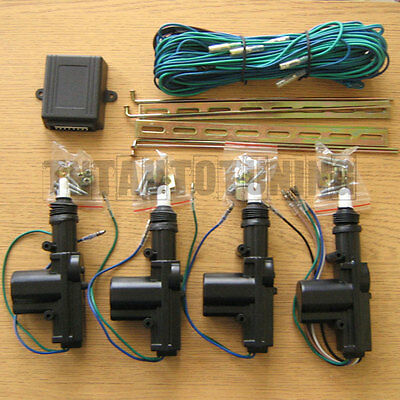 New Central Locking Kit with 4 Actuators for 2 or 4 Door Cars - UNIVERSAL