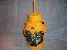 Bumblebee Straw Cup Water Bottle Container Universal Studios Transformers 2012