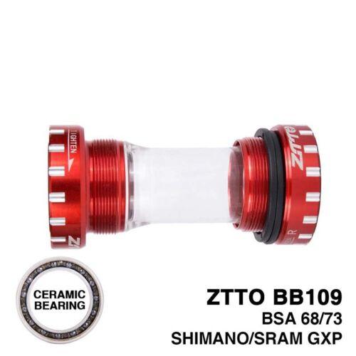 ZTTO CERAMIC Bearing BB109 BSA68 73 MTB Roadbike External Bearing Bottom Bracket