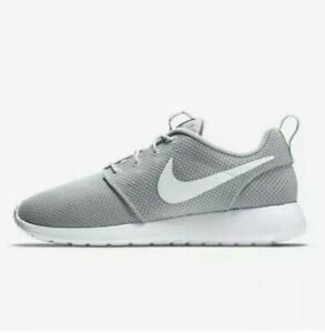 447f95814393 Details about Nike Men's Roshe One 511881 023 Wolf Grey/White Running Shoe  Size 12