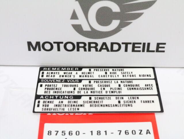 HONDA ATC C 50 70 110 200 E S il Autocollant Réservoir oroginal NEUF