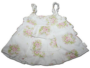 Rare-JOTTUM-Size-74-12-months-Blush-Rose-Tiered-Ruffle-Swing-Top-PINK-ROSES