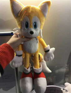 "RARE Sonic The Hedgehog Sonic Tails Yellow Large 16"" Plush ..."