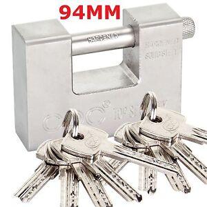 10 Keys Heavy Duty 94mm Container Garage Warehouse Shutter Padlock Chain Lock