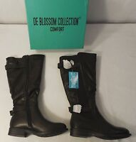 De Blossom Collection Ge13 Women's Elastic Wide-calf Riding Boots , Size 5.5 - 6