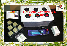 Six (6) Site Hydroponic DIY Kit W/ Nutrients & pH Kit