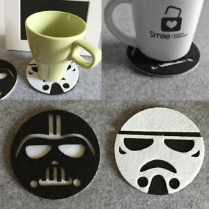 Anime-Star-Wars-Cup-Drinks-Holder-Coffee-Felt-Mat-Placemat-Pads-Round-Tableware