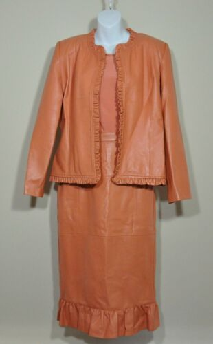 Coral Leather Suit