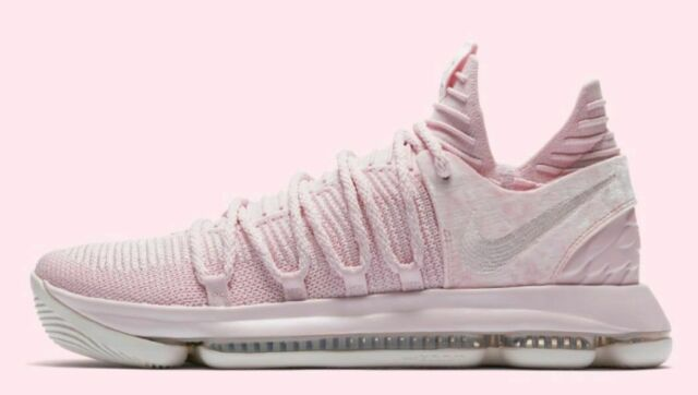 b03ad34cd350 NIKE ZOOM KD10 AP MENS SIZE 11 AUNT PEARL PINK WHITE AQ4110 600 KEVIN  DURANT GSW