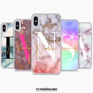 PERSONALISED-BIG-INITIALS-PHONE-CASE-MARBLE-HARD-COVER-APPLE-IPHONE-7-8-PLUS-XS