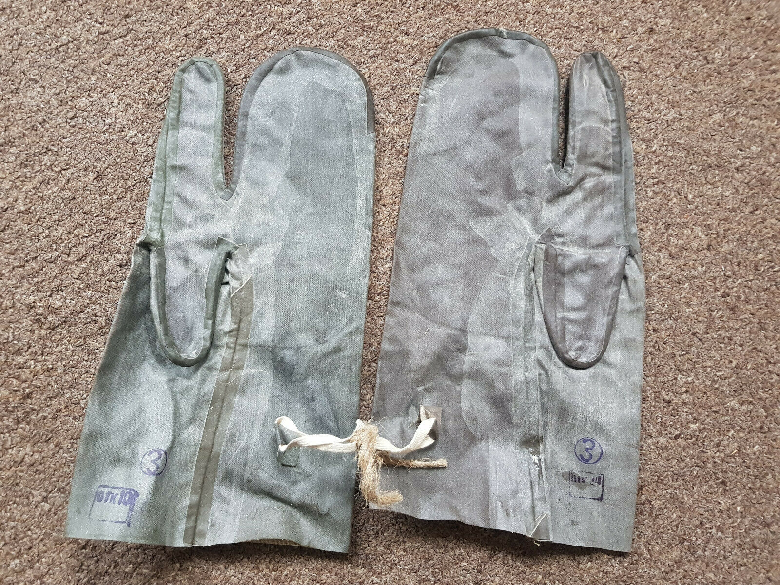 NBC HAZMAT SOVIET anti radiation rare old Russian CCCP Gloves