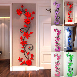 3d blume abnehmbare vinyl wand sticker aufkleber wandbild. Black Bedroom Furniture Sets. Home Design Ideas