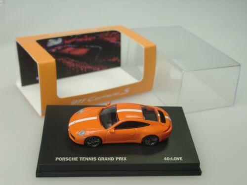 "dealer model 1:87 /""40:Love/"" Spark Porsche 911 Carrera S TENNIS Grand Prix"