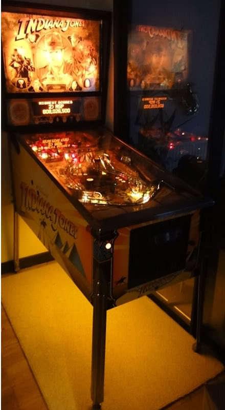 Indiana Jones Flintstones Party Zone Indianapolis 500 Pinball Cabinet light mod