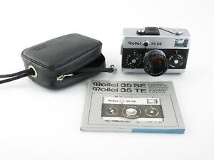 Rollei-35-SE-Kompaktkamera-compact-camera-Sonnar-2-8-40-HFT-Anleitung-amp-Tasche