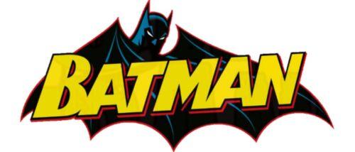 Batman Iron on T Shirt heat Transfer diy free postage suicide squad DC Universe