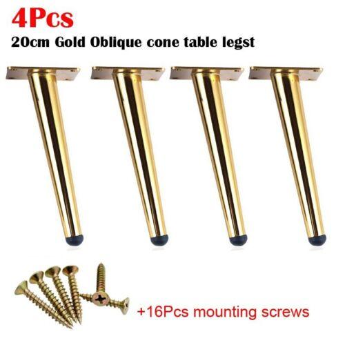 4Pcs 15//20CM Furniture table legs Metal Tapered Sofa Cupboard Cabinet Leg Feet