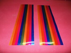 Details about JUKEBOX 2 ROCK-OLA 1434 1436 ECT MULTICOLOR PILASTER LIGHT  DIFFUSERS