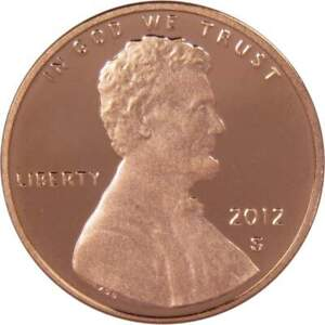 2012 S Lincoln Shield Cent Choice Proof Penny 1c Coin Collectible