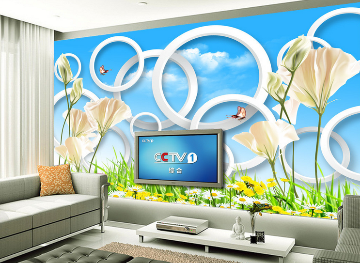 3D Petal Weiß 4168 Wallpaper Murals Wall Print Wallpaper Mural AJ WALL UK Lemon