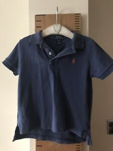New Ralph Lauren Boys Long Sleeved Polo-Shirt 4T//4Years
