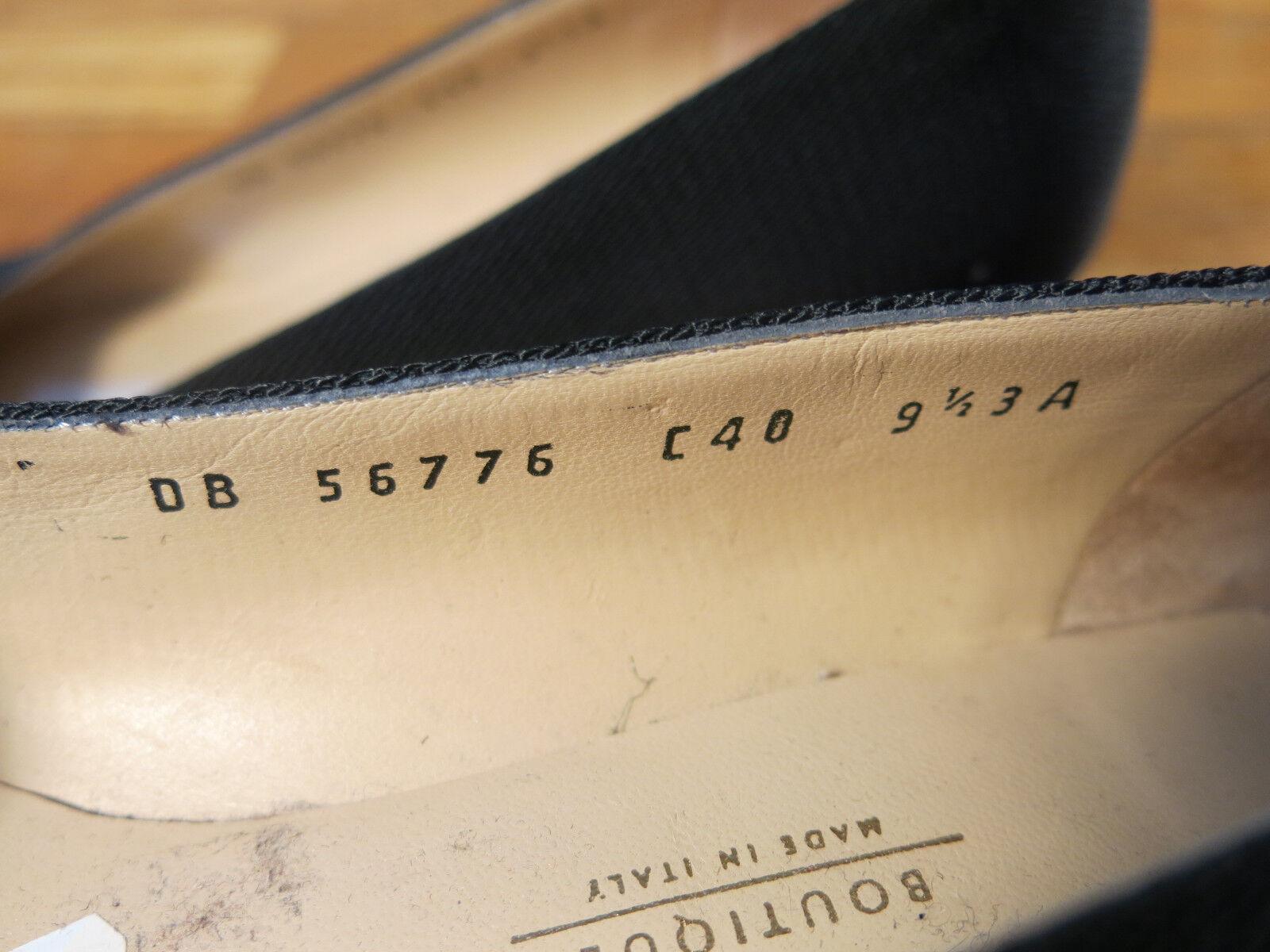 RECENT High Salvatore Ferragamo Boutique Block High RECENT Heel Horseschuhe Logo  9.5 b1ac3b
