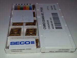 10 x SECO CNMG 120408-m3 TP200 INSERTI 19% MwSt carburo inserti
