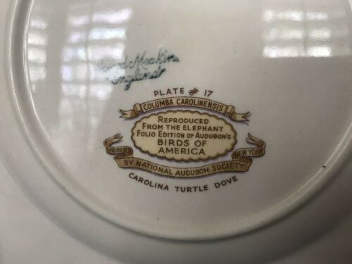 Alfred Meakin England Birds Of America Salad//Desert Plate #17-2 Available
