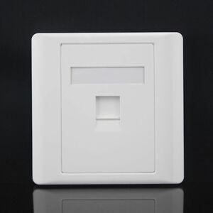Face-Plate-RJ45-Prise-murale-Cat5e-Ethernet-unique-Gang-1-Port-avec-Keystone-201